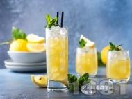 Домашна лимонада от лимони и лайм с тоник и прясна мента